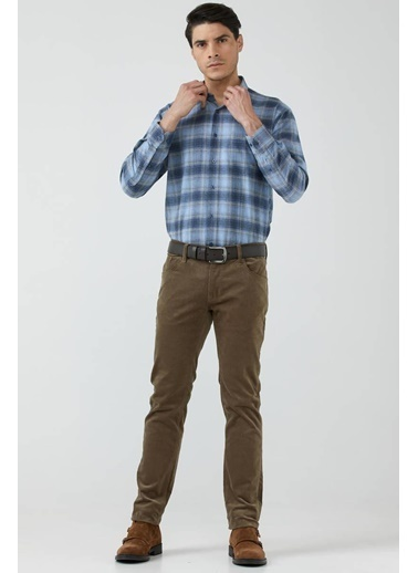Sementa Erkek Beş Cep Kadife Pantolon - Toprak Kahve